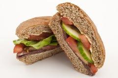Rindfleisch-und Salat-Yummy Sandwich Lizenzfreie Stockbilder