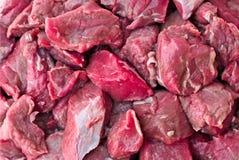 Rindfleisch-Würfel Stockfotos