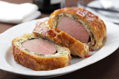 Rindfleisch Wellington Stockfotos