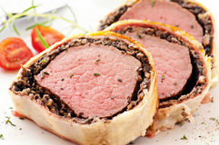 Rindfleisch Wellington Stockbild