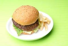 Rindfleischburger Lizenzfreies Stockfoto