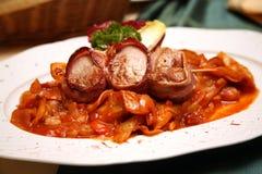 Rindfleischmedaillons auf Ungarisch lizenzfreies stockfoto