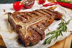 Rindfleischsteakabendessen lizenzfreies stockfoto