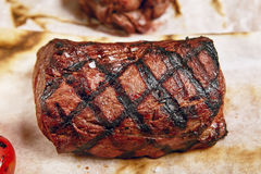 Rindfleischsteakabendessen stockfoto