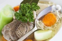 Rindfleischsuppe und -gemüse Lizenzfreie Stockfotografie