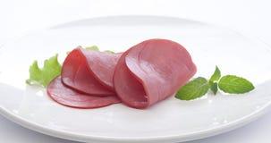 Rindfleischwurstschnitte Lizenzfreie Stockfotos