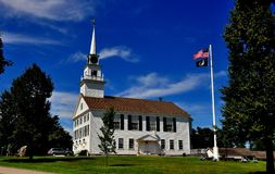 Rindge, NH : Église 1796 de lieu de réunion Images libres de droits