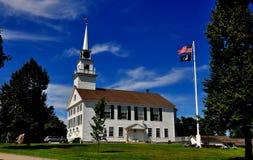 Rindge, NH: Chiesa di 1796 della Camera di riunione Immagini Stock Libere da Diritti