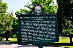 Rindge, NH: Second Rindge Meeting House Historic Sign Royalty Free Stock Image