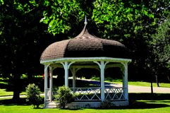 Rindge, NH: Village Green Bandstand Stock Photography