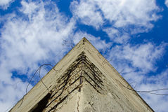 Rinforced concrete pyramid-shaped Royalty Free Stock Photos