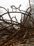 Rinforzo arrugginito torto Fotografia Stock Libera da Diritti