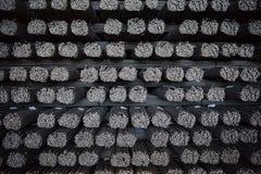 Rinforzo d'acciaio Fondo, carte da parati Produzione d'acciaio finita Fotografie Stock Libere da Diritti