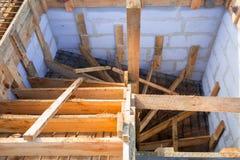 Rinforzo d'acciaio per le scale concrete Fotografie Stock