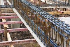 Rinforzo della barra d'acciaio Immagini Stock