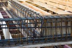 Rinforzo della barra d'acciaio Fotografia Stock