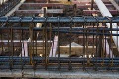 Rinforzo della barra d'acciaio Fotografie Stock Libere da Diritti
