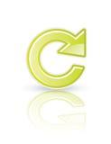 Rinfreschi l'icona Fotografia Stock