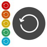 Rinfreschi l'insieme del segno del ciclo di rotazione della ricarica illustrazione vettoriale