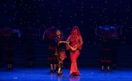 Rinfreschi la danza popolare di cinese delle su-spose Fotografie Stock Libere da Diritti