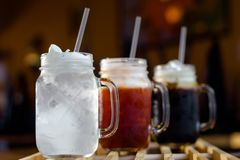 Rinfresco con le bevande tailandesi Fotografie Stock