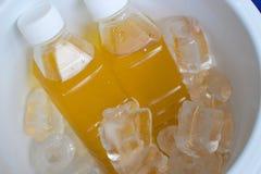 Rinfresco fresco giallo della bevanda Immagini Stock
