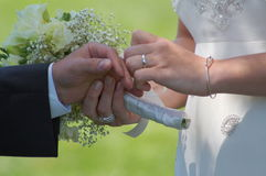With this ring... Royalty Free Stock Photos