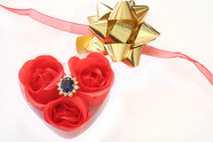 Ring. A heart box with a ring royalty free stock image