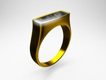 Ring. Golden wedding ring. It was made in 3d Stock Image
