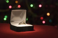 The Ring. A beautiful 2 carat wedding ring with shallow DOF Stock Images