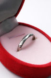 Ring. This platinum ring represents love Royalty Free Stock Photo
