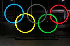 Free Ring A Symbol Of Olympic Games Sports Competitions Sochi 01.03.18 Stock Images - 131242194