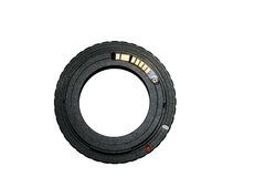 Ring adapter for vintage lens with chip-focus Royalty Free Stock Image