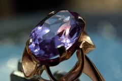 The ring with alexandrite Stock Images