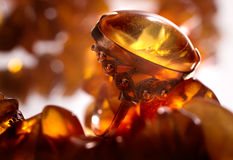 Ring with amber Stock Photo
