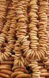 Ring bagels as a background Royalty Free Stock Image