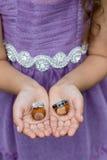 Ring Bearer avec des anneaux de mariage Photos stock