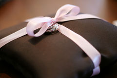 Ring bearer pillow Royalty Free Stock Photos