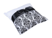 Ring Bearer Pillow with two Rings Stock Photo