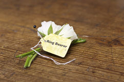 Ring Bearer's Boutonnière Royalty Free Stock Photography