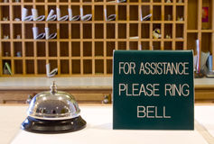 Ring bell for assitance Royalty Free Stock Images