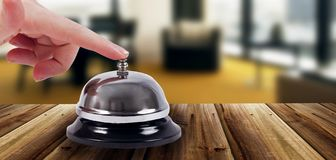 Ring bell in hotel Stock Images
