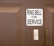 Ring bell for service Royalty Free Stock Image
