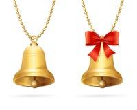 Ring Bells Hanging Chain Vettore Immagini Stock