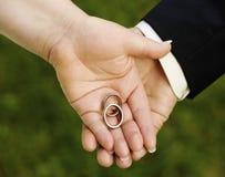 Ring bij huwelijk Stock Fotografie