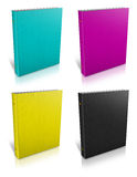 Ring binde notebook. With CMYK Stock Image