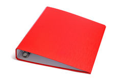 Ring binder. A red ring binder on a white background Royalty Free Stock Image