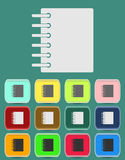 Ring binder calendar notepad - Vector icon. Isolated Royalty Free Stock Photos