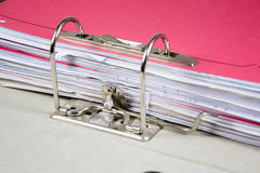 Ring binder. Detail of a ring binder Royalty Free Stock Images