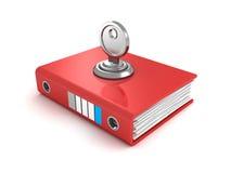 Ring Binder Folder Locked With Key Royalty Free Stock Image